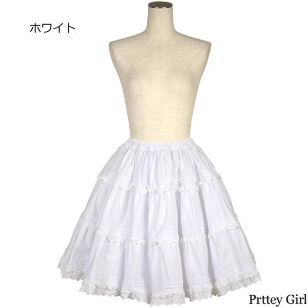 8mm パニエ スカート 45cm ピンタック カラー2色 ゴスロリ イベント パーティ|prettygirl|03