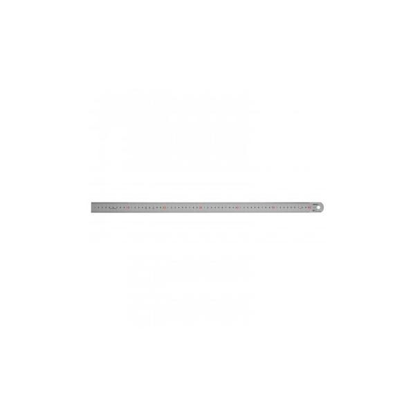 ステンレス・アルミ定規 ヤマヨ シルバー直尺 60cm 108-0004