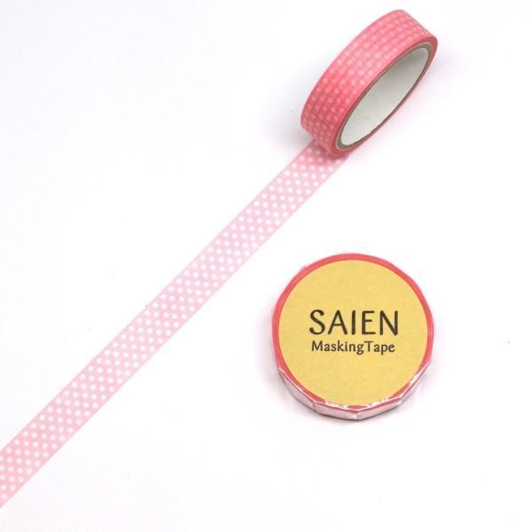 マスキングテープ ピンクハート 幅10mm