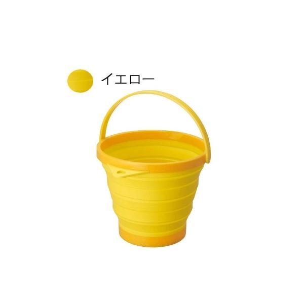 伊勢藤 折りたたみ ソフトバケツ 8型 7.8L イエロー (I-484124)