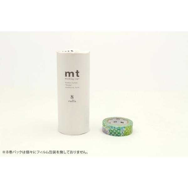 [カモ井加工紙] mt 8P ネガポジドット・ブルー/マスキングテープ