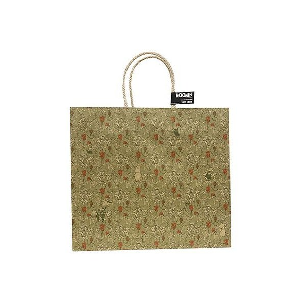 ムーミン キャリーバッグ (L) グレープバイン 14866 紙袋 ギフトバッグ 総柄 ペーパーバッグ 手提げ 袋 ラッピング フローレン ミイ はなうま スティンキー