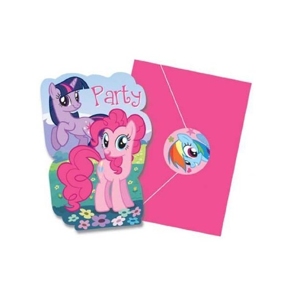 マイリトルポニー My Little Pony インビテーションカード(招待状) amscan9246(トモダチは魔法 パーティー カード 小物 )