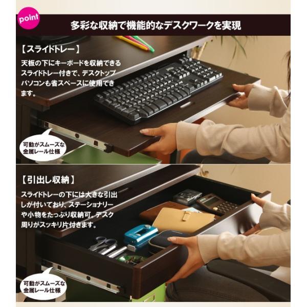 パソコンデスク ビスコ bisco iwp-65 家具 デスク PCデスク 書斎机 ワークデスク 引き出し 引出し 棚付き キャスター付き|pricewars|05