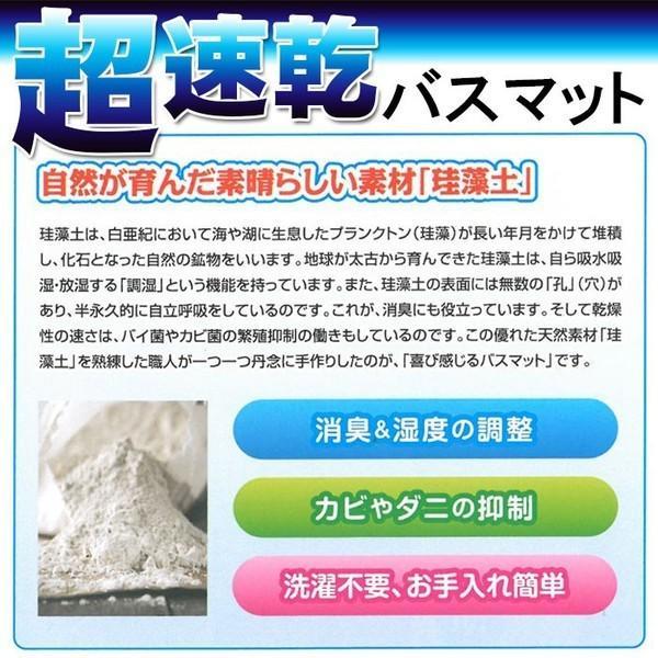 珪藻土バスマット マット  ピンク ブルー グリーン Lサイズ 速乾 吸水 防カビ 39×60cm カビ 除湿 pricewars 02