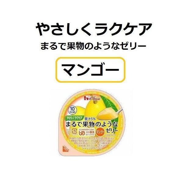 やさしくラクケア まるで果物のようなゼリー マンゴー 10個セット ハウス食品 介護食