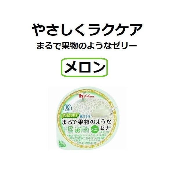 やさしくラクケア まるで果物のようなゼリー メロン 10個セット 83824 ハウス食品 介護食