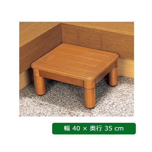 木製玄関ステップ1段 40cm幅 VALSMG400 パナソニック 手すり ステップ台 踏み台 ベンチ 介護用品