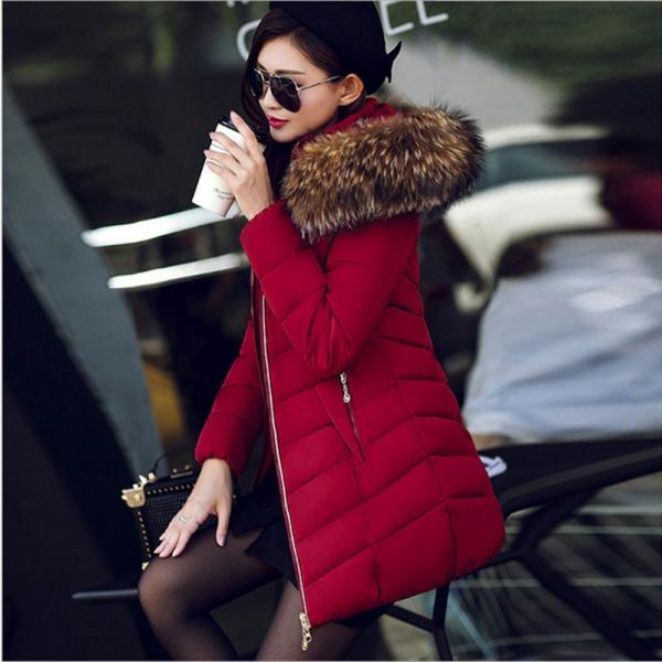 ダウンジャケット レディース 中綿コート 厚手 防寒 防風 フード付き ファー 着痩せ効果 6カラー 大きいサイズ 2L 3L 4L 5L ロング丈 送料無料|primpshop