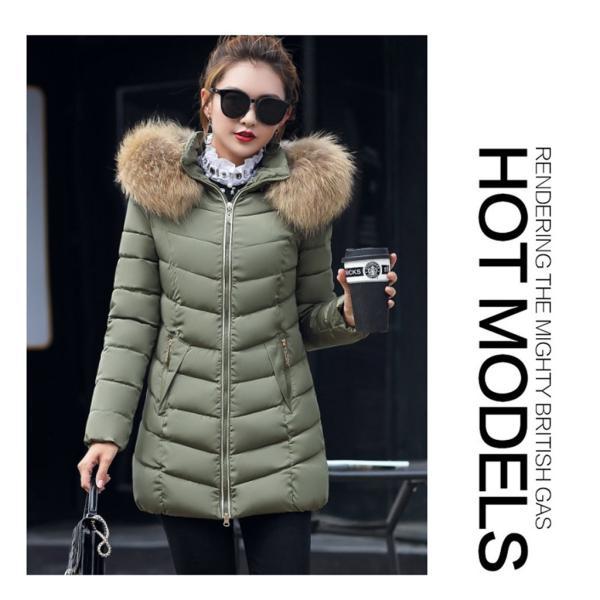 ダウンジャケット レディース 中綿コート 厚手 防寒 防風 フード付き ファー 着痩せ効果 6カラー 大きいサイズ 2L 3L 4L 5L ロング丈 送料無料|primpshop|10