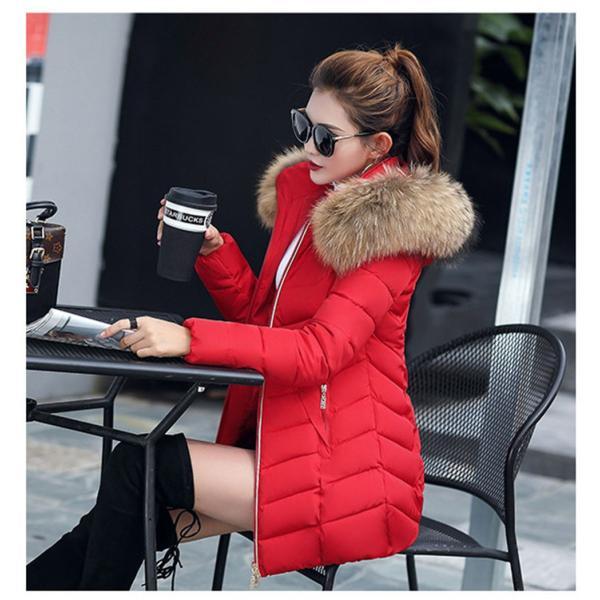 ダウンジャケット レディース 中綿コート 厚手 防寒 防風 フード付き ファー 着痩せ効果 6カラー 大きいサイズ 2L 3L 4L 5L ロング丈 送料無料|primpshop|11