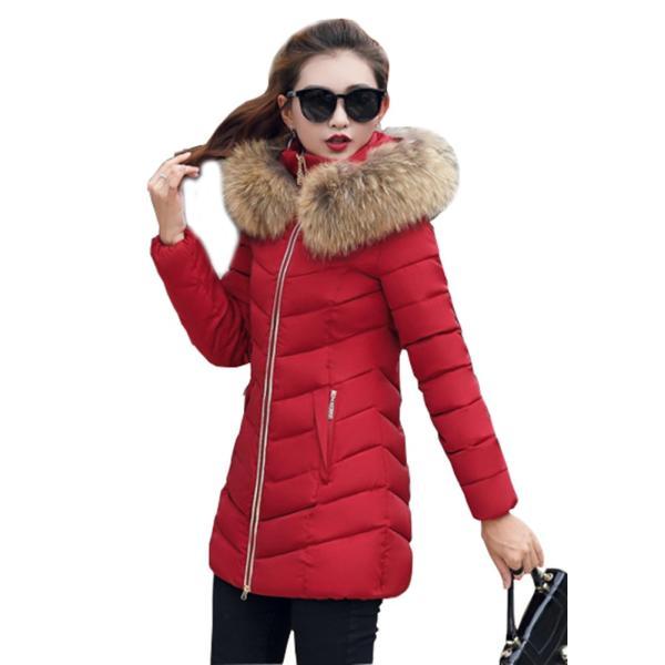 ダウンジャケット レディース 中綿コート 厚手 防寒 防風 フード付き ファー 着痩せ効果 6カラー 大きいサイズ 2L 3L 4L 5L ロング丈 送料無料|primpshop|05