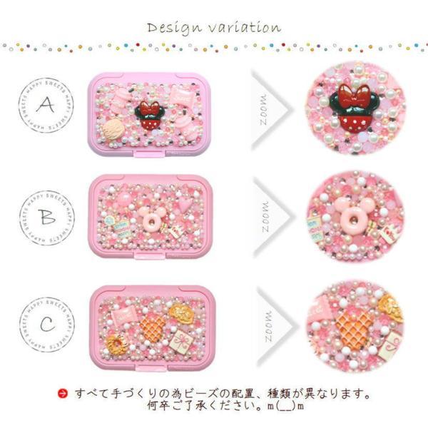 ウェットティッシュのふた 薄ピンク 選べるデザイン スイーツデコ ウエットティッシュ付き printemps410 03