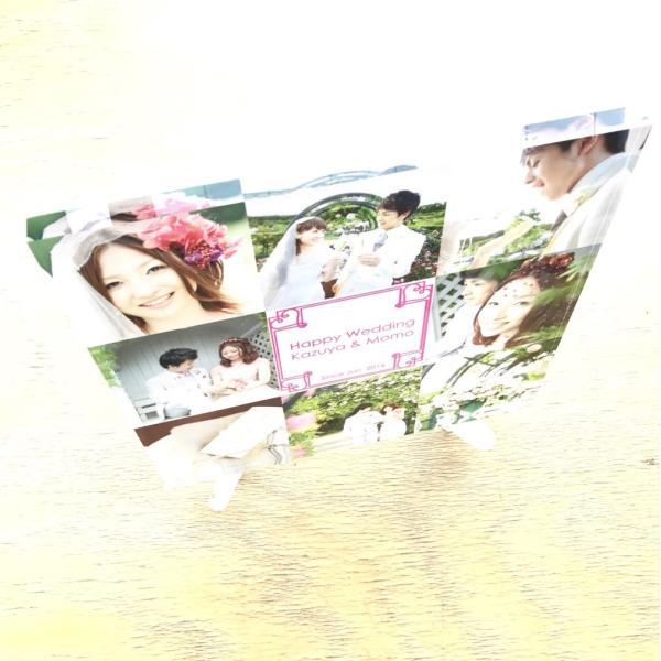 結婚メモリアル用アクリルフォトプレート (スタンド付) 20x20x1cm printplus 05