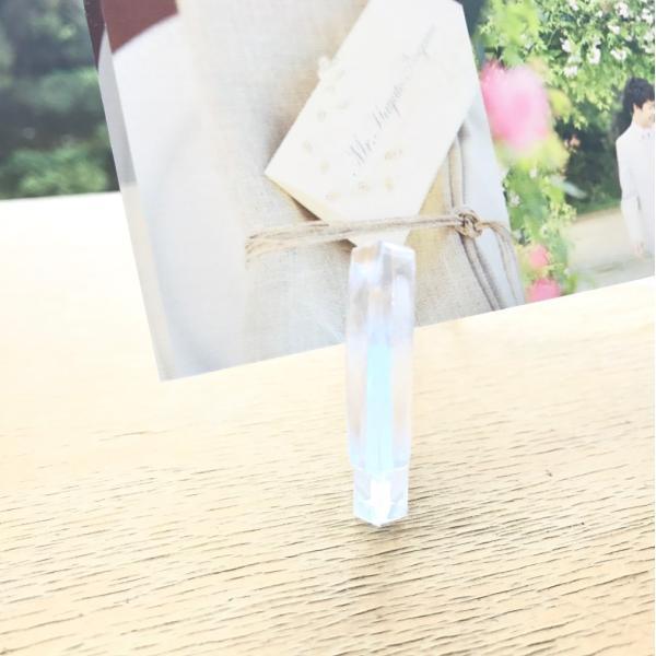結婚メモリアル用アクリルフォトプレート (スタンド付) 20x20x1cm printplus 07
