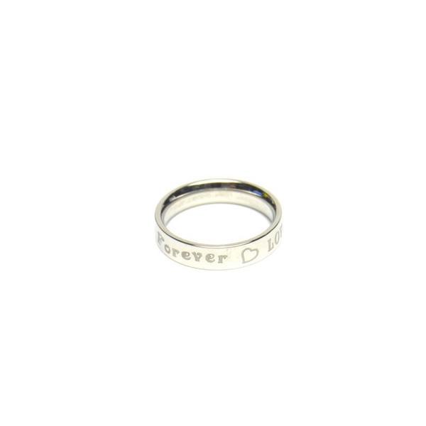 Forever LOVE ステンレス リング シルバーカラー  レディース 指輪 アクセサリー f-er28