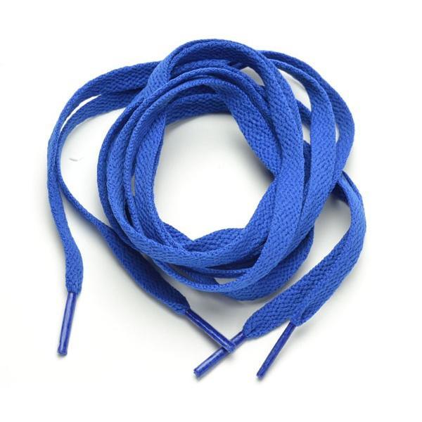 靴ひも 平ひも 100センチ  濃いブルー 無地 デザイン メンズ スポーツ  f-k184