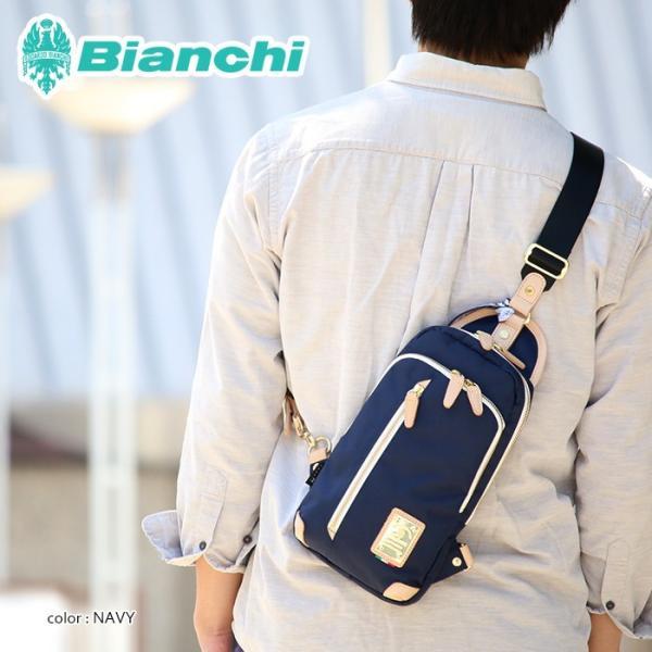 Bianchi ビアンキ ボディバッグ 130th anniversaryモデル ワンショルダー ボディーバッグ メンズ レディース 通学 通勤 PRIMABERA BTCI-01 bianchi-021|pro-shop|04