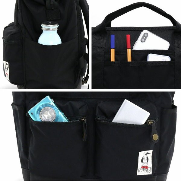 リュック トートバッグ CHUMS チャムス 2WAY ボーズマン 22L 口金 リュックサック バックパック デイパック 通学 旅行 メンズ レディース ブランド セール|pro-shop|09