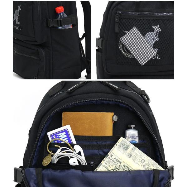 リュック カンゴール KANGOL リュックサック デイパック バックパック バッグ メンズ レディース 男女兼用 ブランド サイドファスナー サイドポケット セール|pro-shop|06