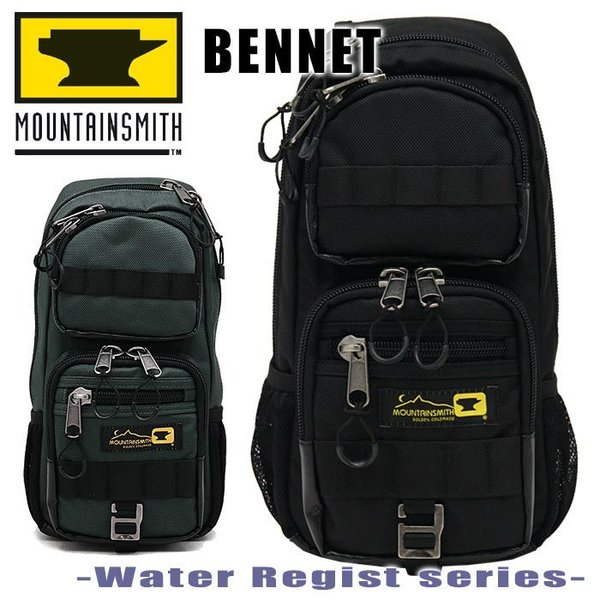 MOUNTAIN SMITH マウンテンスミス ボディバッグ Sサイズ MOUNTAINSMITH ベネット 撥水性の高いテフロン加工 ボディーバッグ ビジネス タウンバッグ ms-65412|pro-shop