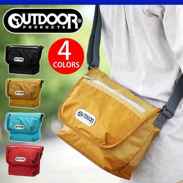 OUTDOOR PRODUCTS アウトドア ショルダーバッグ プロダクツ メッセンジャーバッグ フラップショルダーバッグ 人気の軽量ナイロンシリーズ 通学 通勤 62245|pro-shop
