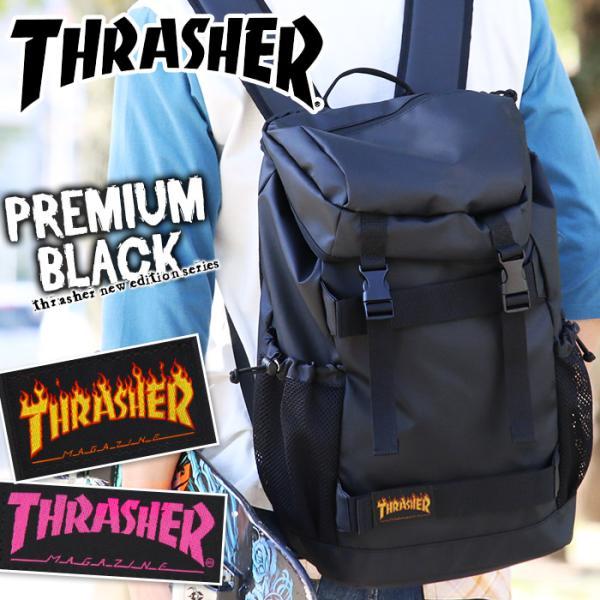 THRASHER スラッシャー リュックサック リュック フラップリュック 黒リュック デイパック バックパック 大容量 メンズ 通勤 通学 THRPD-8900 thrasher-032|pro-shop