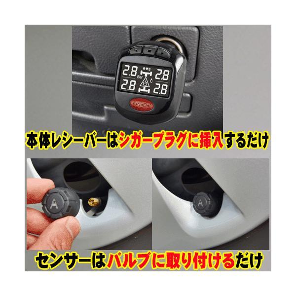 ポイント5倍!エアモニP (エアモニ ピー) AirmoniP タイヤ空気圧センサー シガープラグに接続|pro-tecta-shop|02
