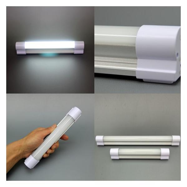 ポイント5倍 充電式 LED蛍光灯 ハンディーブライト(大)8834(340×39×34mm約350g)ポータブルLEDライト 大容量8800mAh PRO-TECTA|pro-tecta-shop|04