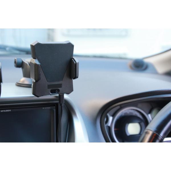 ワイヤレス充電式車載用電動スマホホルダー(Qi規格対応) iPhoneX、iPhone8/Plus GALAXY|pro-tecta-shop|06