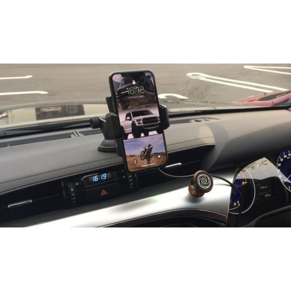 ワイヤレス充電式車載用電動スマホホルダー(Qi規格対応) iPhoneX、iPhone8/Plus GALAXY|pro-tecta-shop|07