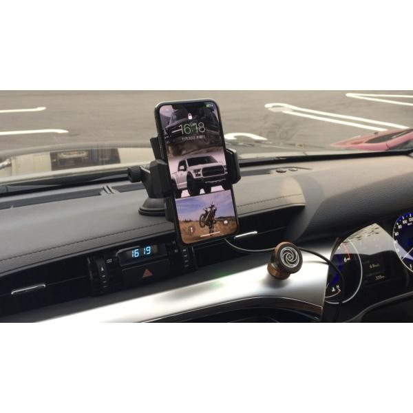 Qi 車載 電動スマホホルダー ワイヤレス充電器 iPhoneX、iPhone8/Plus GALAXY NOTE スマホスタンド PRO-TECTA|pro-tecta-shop|07