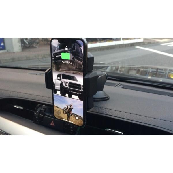Qi 車載 電動スマホホルダー ワイヤレス充電器 iPhoneX、iPhone8/Plus GALAXY NOTE スマホスタンド PRO-TECTA|pro-tecta-shop|08