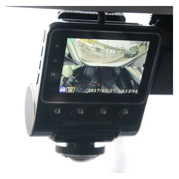 送料無料 360度ドラレコ グルドラ360 ドライブレコーダー 駐車監視 GuruDora360 microSD16GB付 PRO-TECTAぐるどら|pro-tecta-shop|03