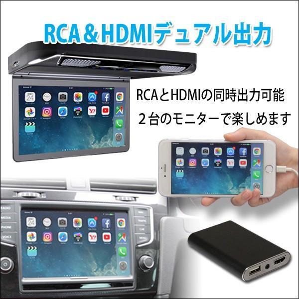 ミラーリングアダプタ iPhone,iPad用PML2   HDMI出力とRCAアナログ出力の2系統を搭載し、同時出力が可能。 pro-tecta-shop 03