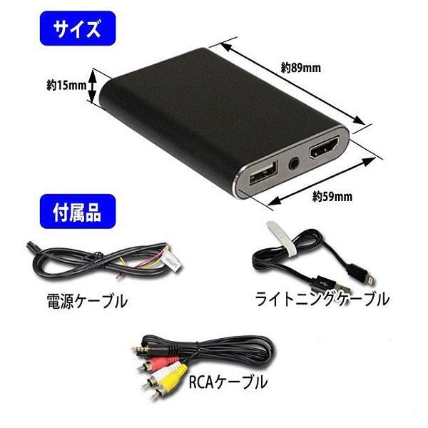 ミラーリングアダプタ iPhone,iPad用PML2   HDMI出力とRCAアナログ出力の2系統を搭載し、同時出力が可能。 pro-tecta-shop 05