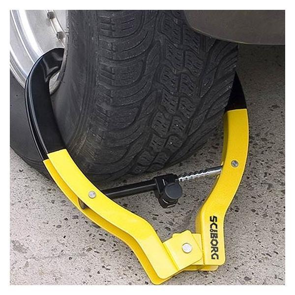 盗難防止 自動車バイク用タイヤロック サイボーグタイヤロック SCIBORG Tire Locks 2000M|pro-tecta-shop|04