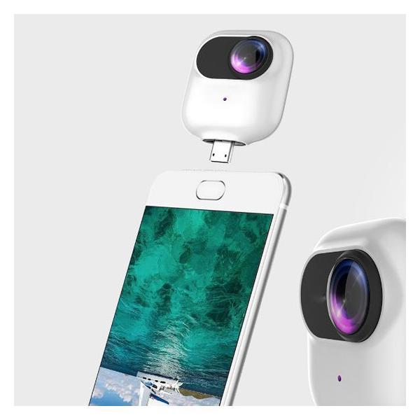 撮ラピコ(トラピコ)360度カメラ Androidスマホへ直挿し パノラマ映像・VRビデオ720度(360+360)SNSに簡単共有できるカメラ|pro-tecta-shop|03