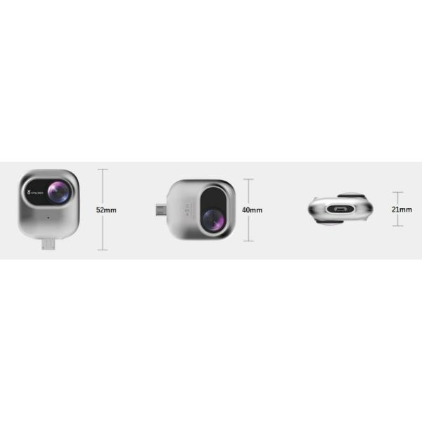 撮ラピコ(トラピコ)360度カメラ Androidスマホへ直挿し パノラマ映像・VRビデオ720度(360+360)SNSに簡単共有できるカメラ|pro-tecta-shop|05