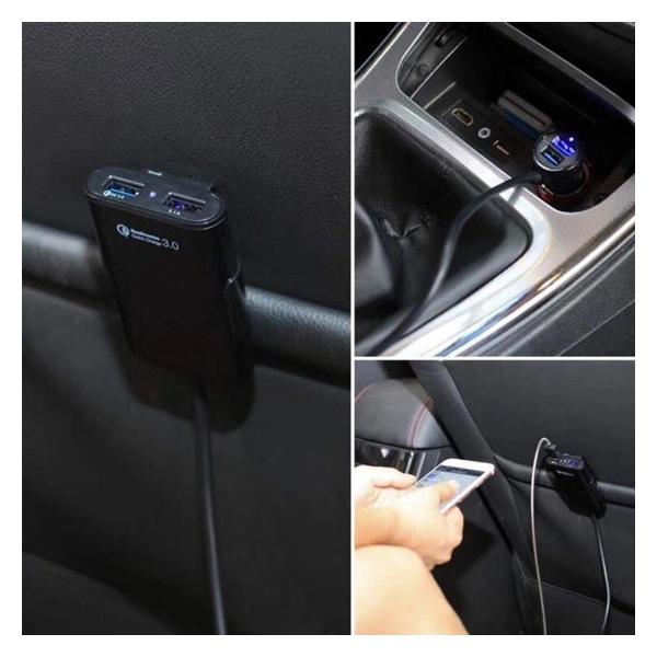 令和特別価格 急速充電対応 QC3.0 後席対応USBカーチャージャー シガーソケット 4ポート 36W ケーブル1.8m 前後座席対応 クイックチャージ PRO-TECTA pro-tecta-shop 04