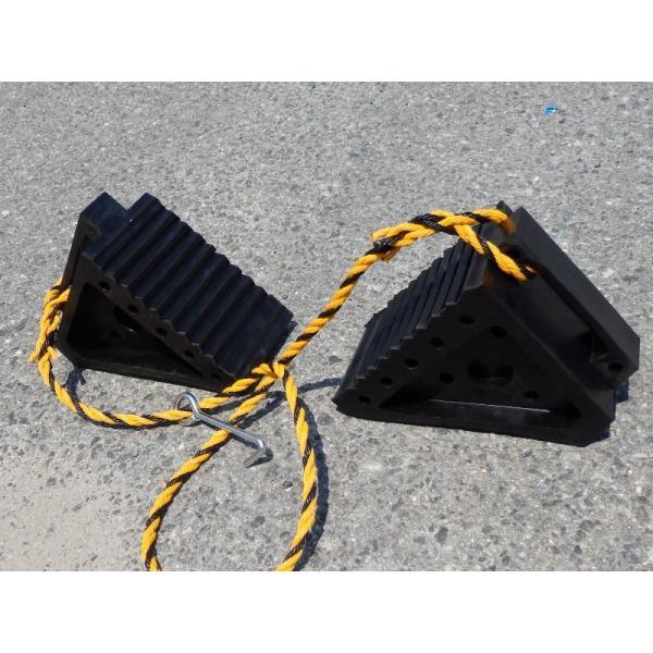 タイヤストッパーL(トラック用) ロープフック付き pro-yama