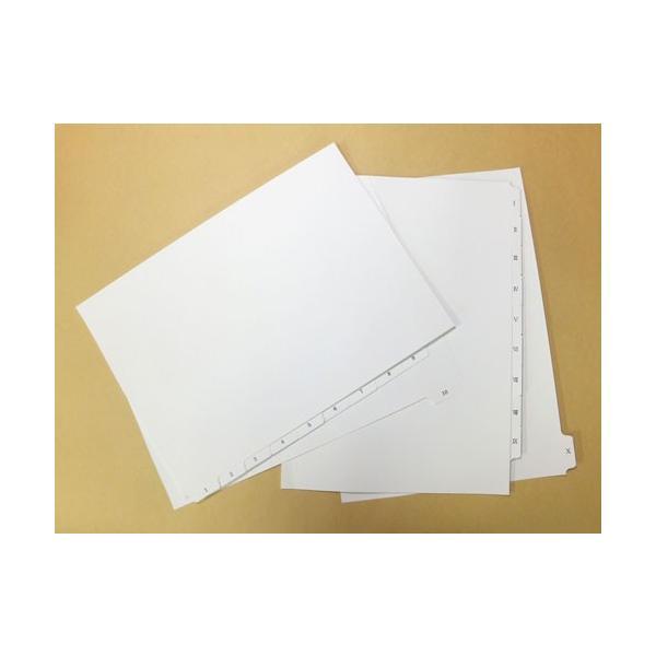 プロバインド ホワイトインデックス タブ部オンデマンド印刷付 10山/5組
