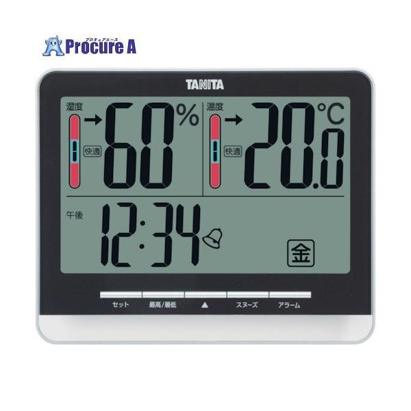TANITA デジタル温湿度計 TT‐538‐BK TT-538-BK ▼765-8711(株)タニタ