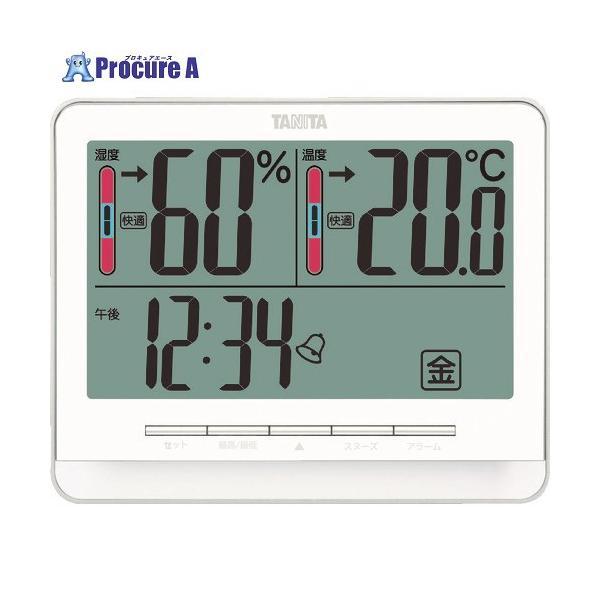 TANITA デジタル温湿度計 TT‐538‐WH TT-538-WH ▼765-8729(株)タニタ