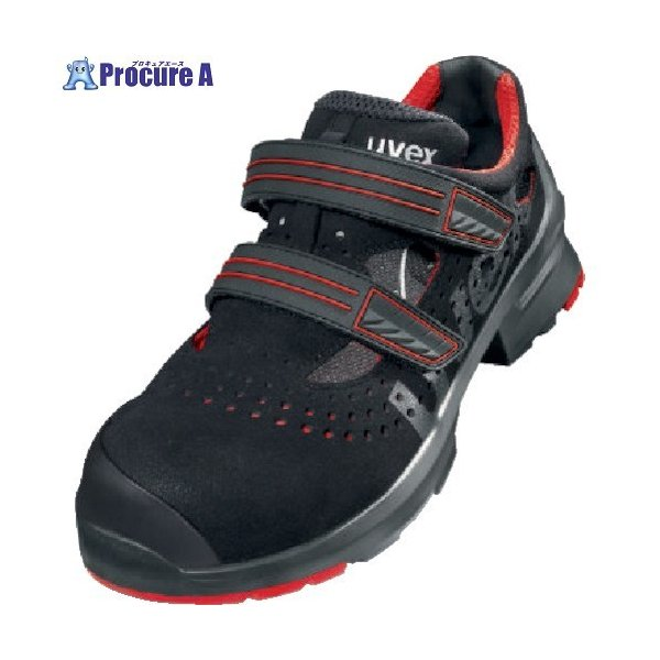 UVEX サンダル ブラック/レッド 25.5CM 8536.5-40 ▼855-2776 UVEX社