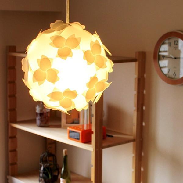 ペンダントライト - さくらのカバーランプ 蛍光灯電球 LED対応 照明器具 - シェードのみ - 組立式 コハルライト|product-factory-jp|03