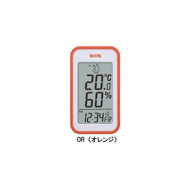 TANITA タニタ デジタル温湿度計 TT-559 OR・TT-559-OR 卓上 置き時計 アラーム デジタル時計 おしゃれ 湿度計 温度計 室内