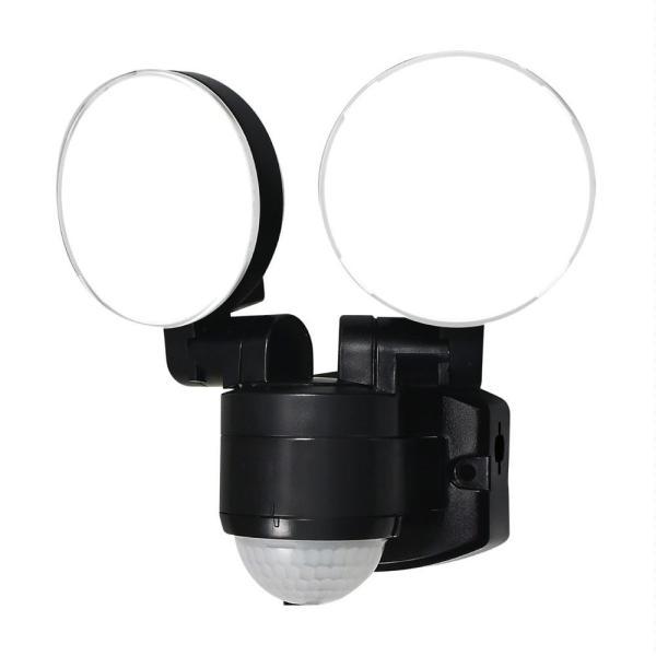 ELPA(エルパ) 屋外用LEDセンサーライト AC100V電源(コンセント式) ESL-SS412AC 照明 電気 小型 自動点灯 人感 明るい 軒下 防雨 白色 玄関 防犯 不審者
