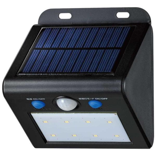 ELPA(エルパ) 屋外用 LEDセンサーウォールライト ソーラー発電式 電球色 ESL-K101SL(L) 電気 太陽光 防雨 明かり 照明 常夜灯モード 人感 動き 屋外 車 人