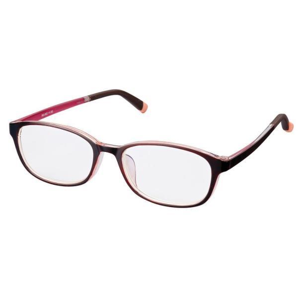 老眼鏡 シンプルビジョン スリム RG-002 ワイン/クリアピンク +1.50